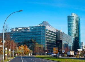 View of Potsdamer platz - financial district of Berlin, Germany