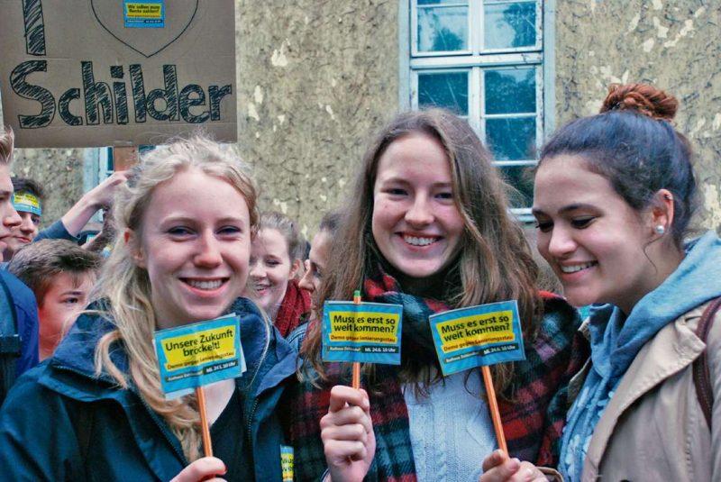 Schüler streiken für eine bessere Zukunft