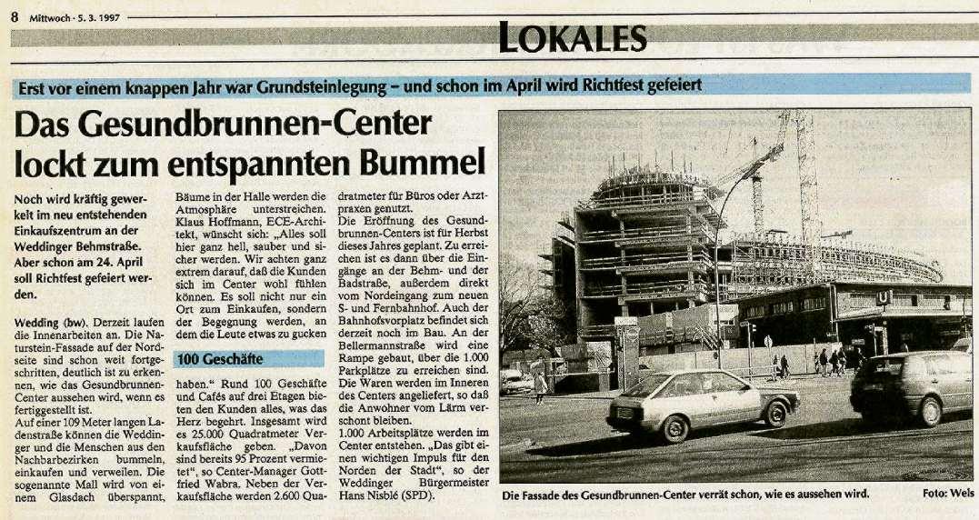 ein dampfer f r den wedding berliner abendblatt center gesundbrunnen real tiergarten. Black Bedroom Furniture Sets. Home Design Ideas