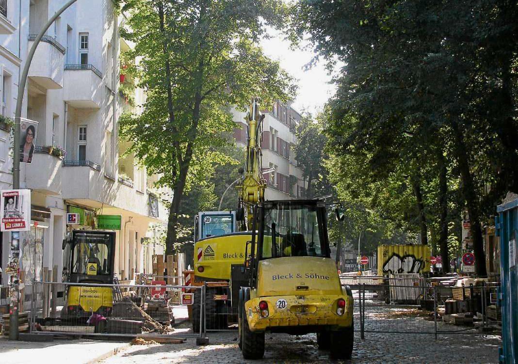 Kahlschlag in der Weserstraße