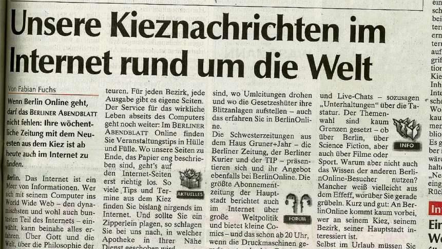 Abendblatt goes online
