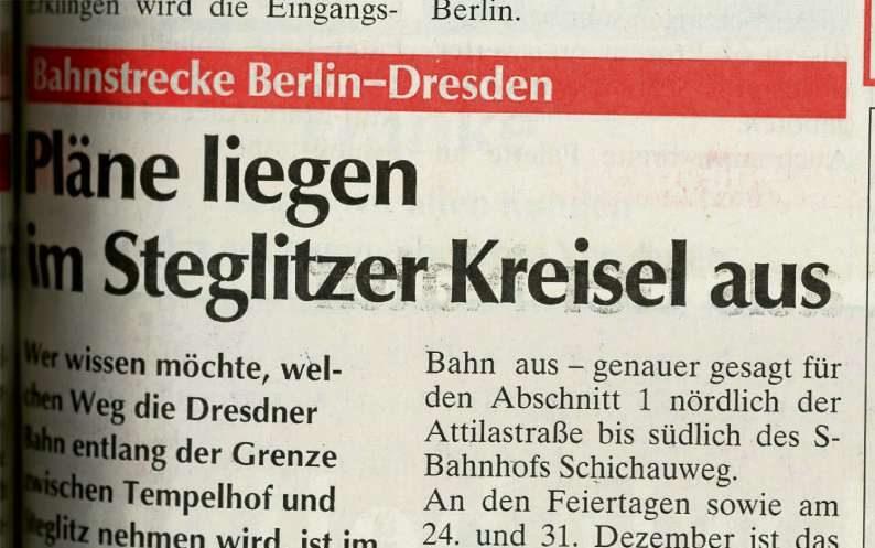 Geschacher um die Dresdner Bahn
