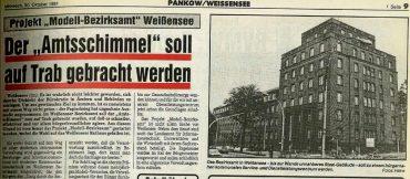 Berlins erstes Bürgeramt entstand in Weißensee