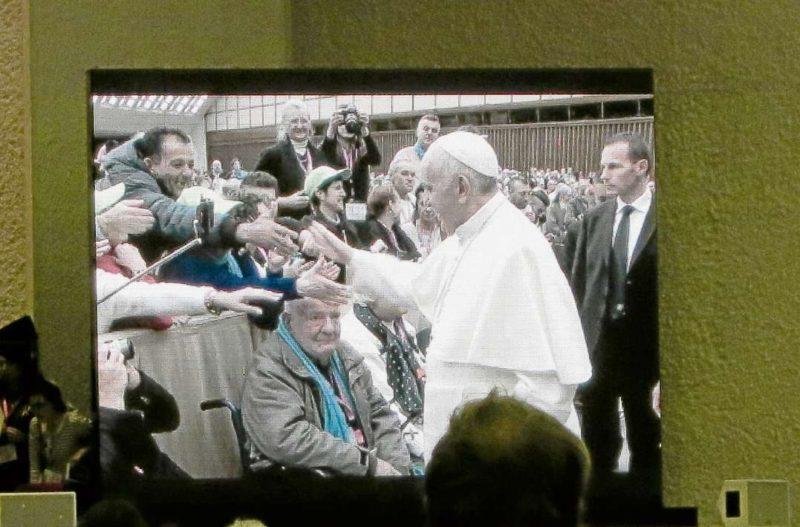 Obdachlose zu Besuch beim Papst
