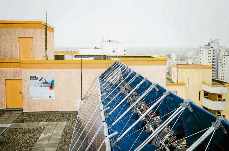 Öko-Kraftwerk auf dem Dach