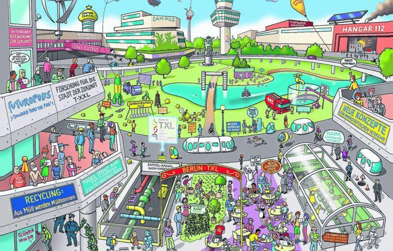 Urbanes Leben auf der Startbahn
