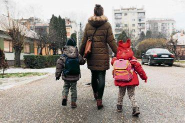 Besser zu Fuß in die Schule