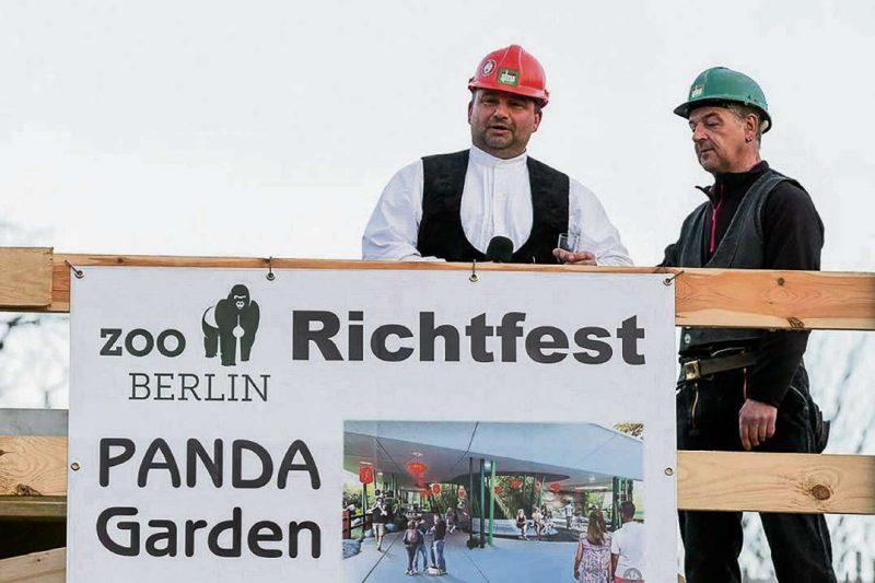 Richtfest im Panda Garden