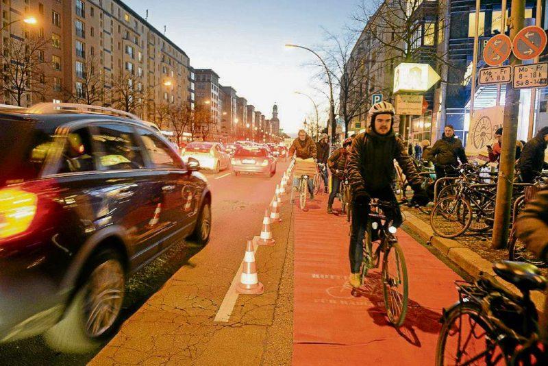 Frankfurter Allee bekommt eigene Radspur