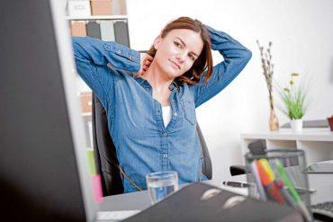 Am Arbeitsplatz für Entspannung sorgen