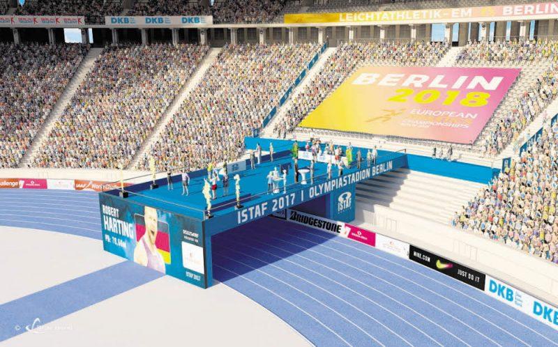 Ein Tunnel für die Läufer, eine Bühne für die Fans