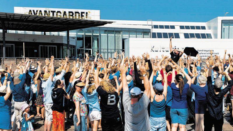 Eintausend Berliner werden zu einem Chor