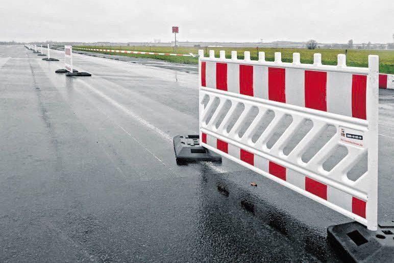 Asphalt für den Taxiway