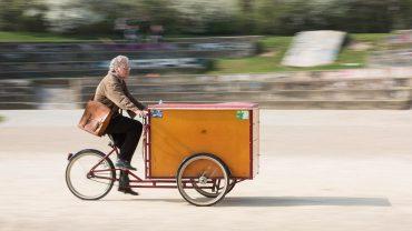 Lastenfahrräder für bessere Luft am Tempelhofer Damm
