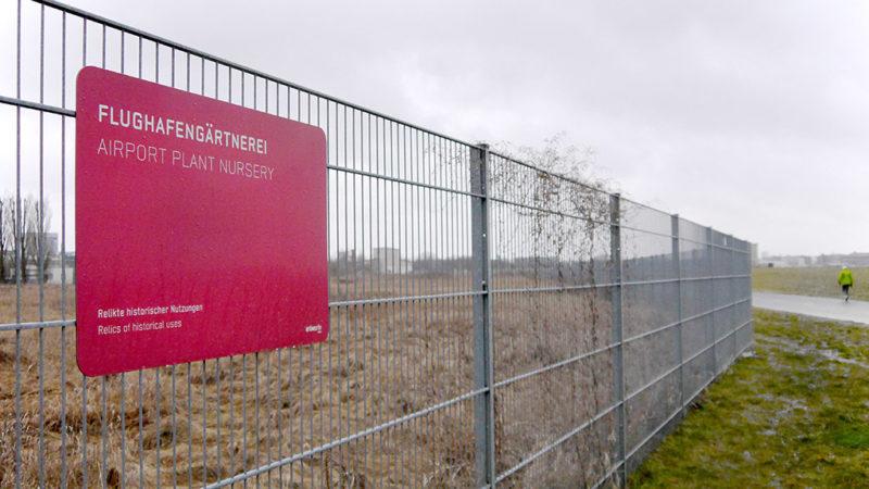 Munitionssuche an alter Gärtnerei auf Tempelhofer Feld