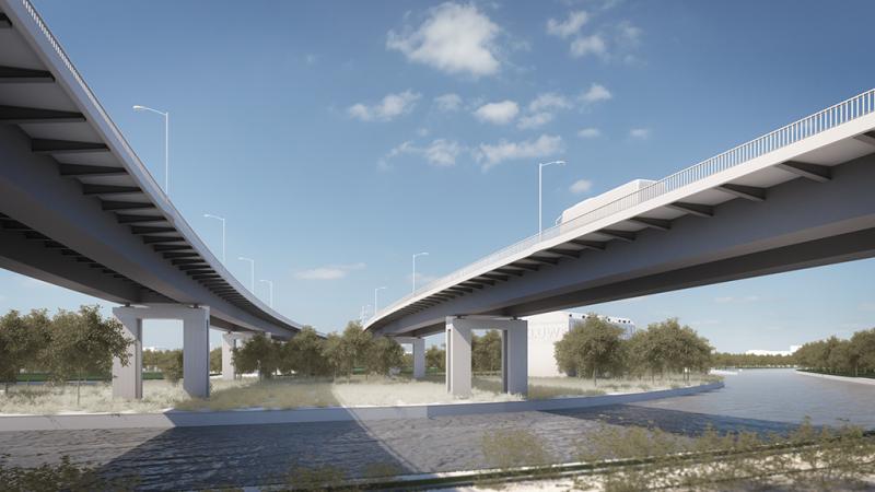 Aus eins mach zwei: die neue Rudolf-Wissell-Brücke