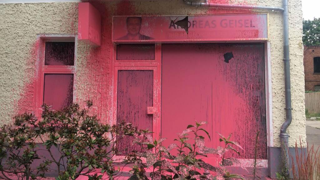 Anschlag auf Geisels Bürgerbüro