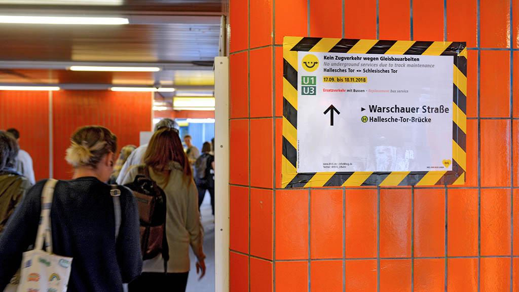 U-Bahn-Pendler werden wieder auf die Probe gestellt