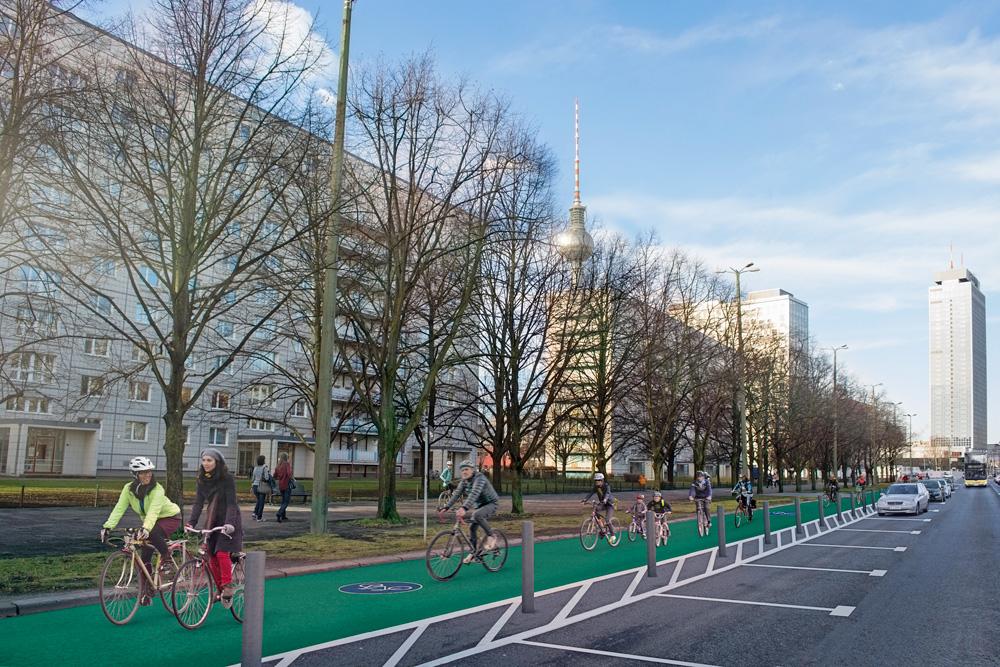 Brandenburgische Straße soll fahrradfreundlicher werden