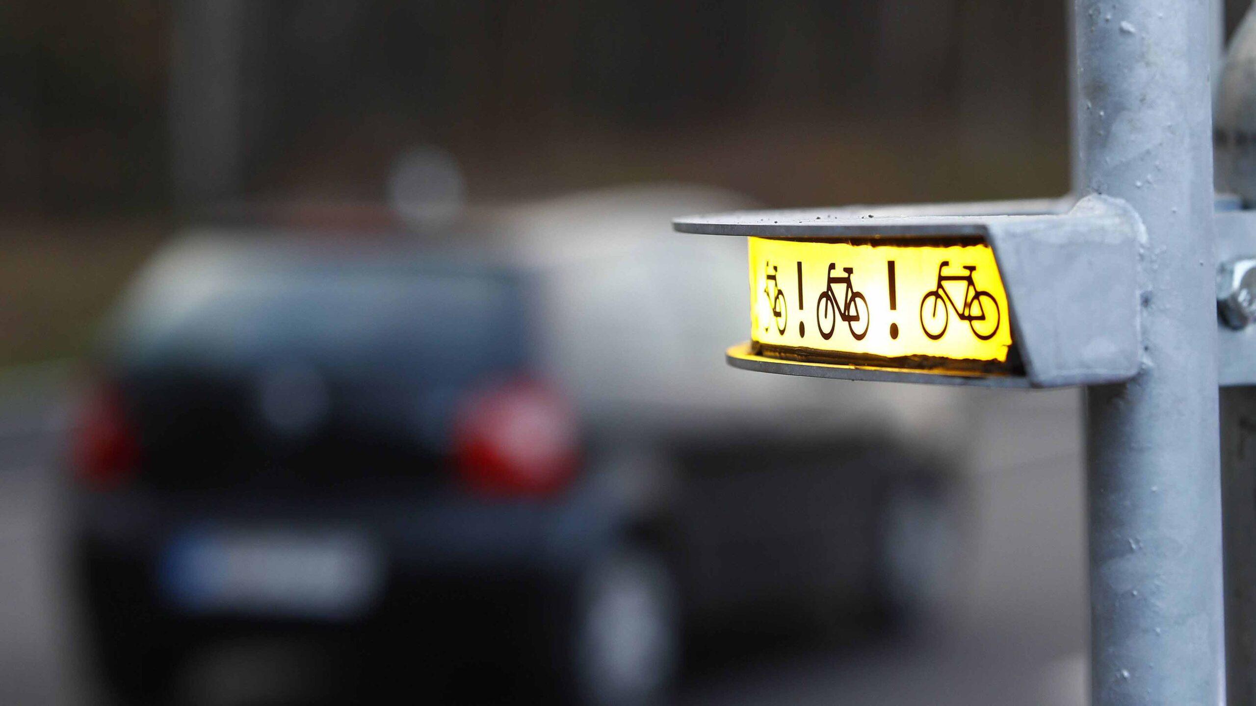 Warnsystem soll Spandaus Radfahrer vor Lkws schützen