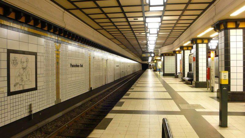 Wasserschaden am U-Bahnhof Paracelsus-Bad