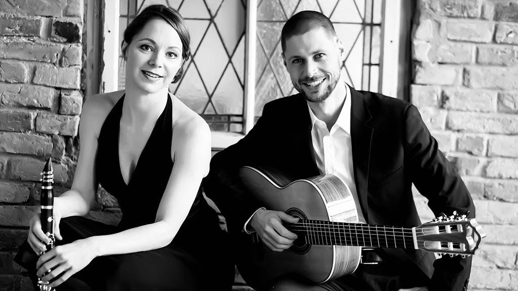 Zeitgenössische Kammermusik mit Klarinette und Gitarre