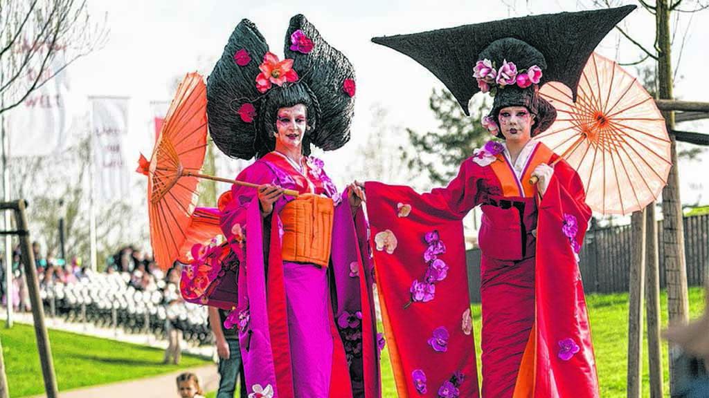 Gärten der Welt laden zum Kirschblütenfest