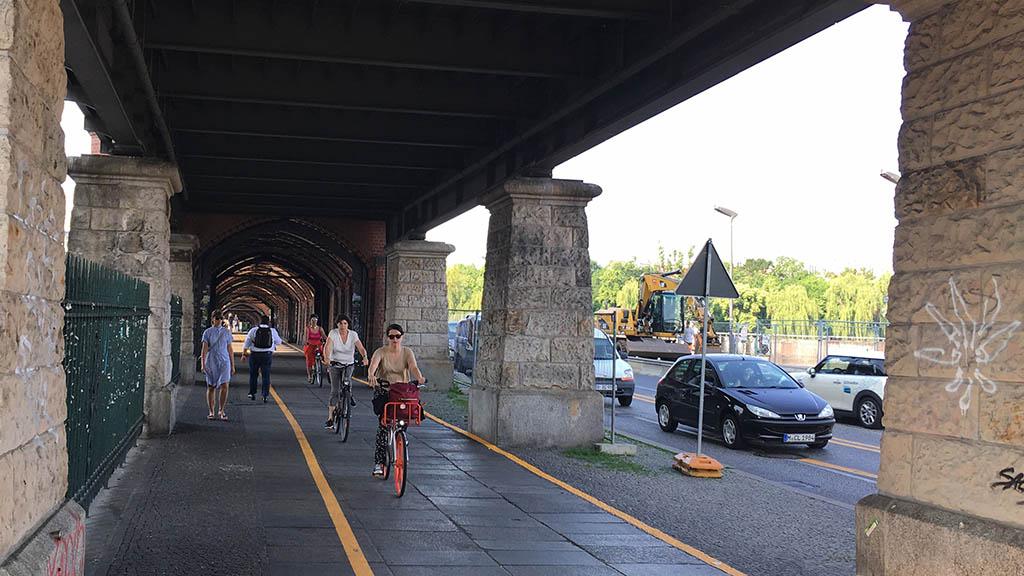 Baustelle Oberbaumbrücke: Rücksicht ist gefragt