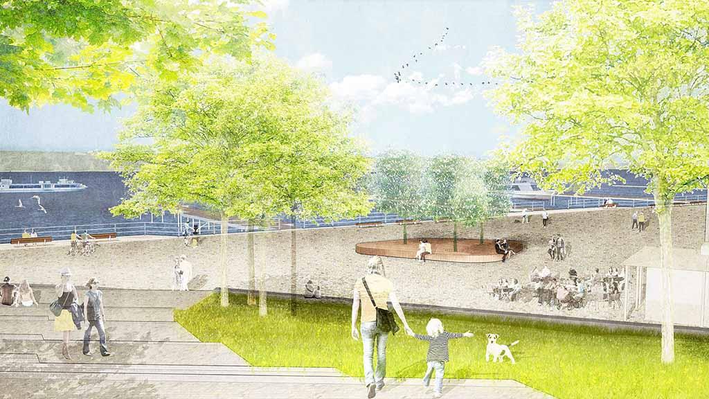 Berlin-Wannsee: Ein Uferpark für die Ronnebypromenade