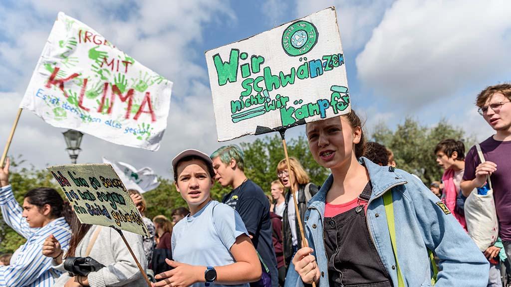 Klimastreik in Berlin: Hier geht's rund