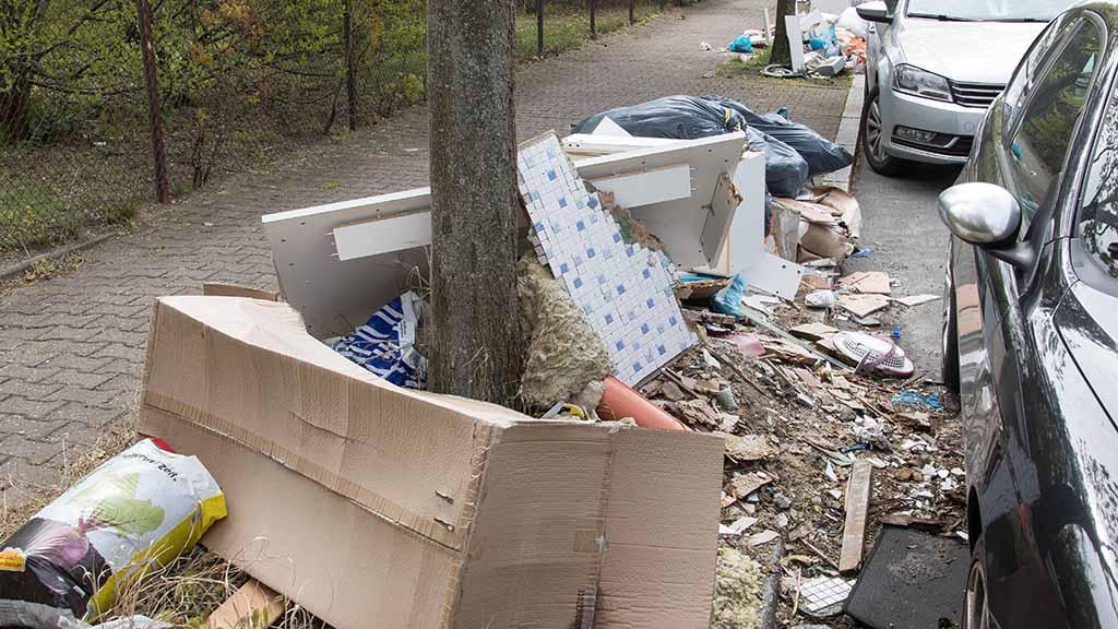 Berlin-Neukölln: Einsatz gegen Müllsünder