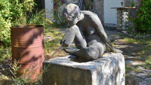 Skulptur in den Blo-Ateliers
