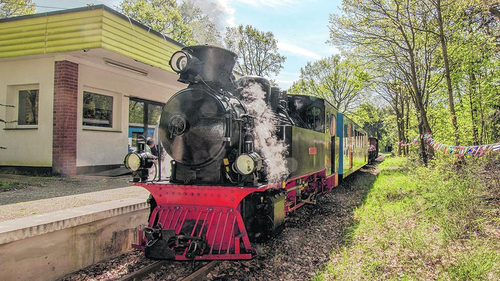 Lokomotive der Parkeisenbahn Wuhlheide