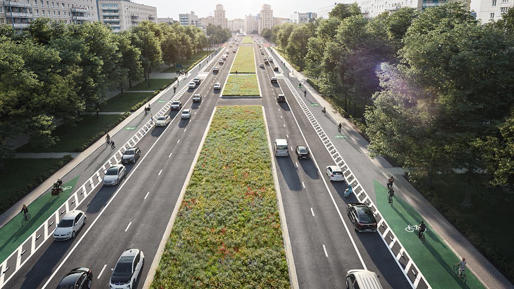Berlin-Mitte: Es grünt so grün die Karl-Marx-Allee