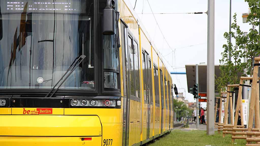 Mit der Straßenbahn vom Berliner Hauptbahnhof bis nach Jungfernheide