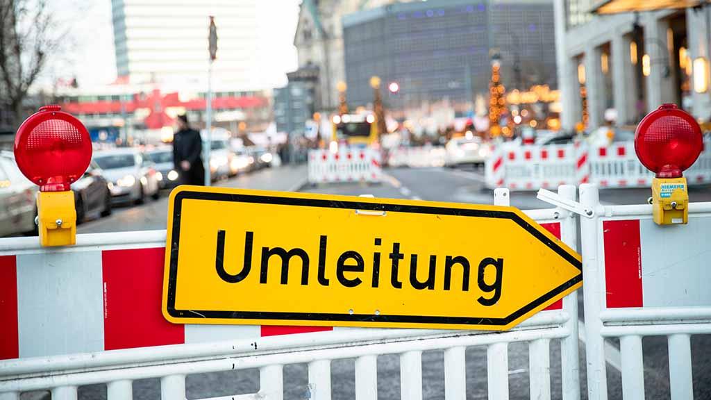 Umleitung in Berlin