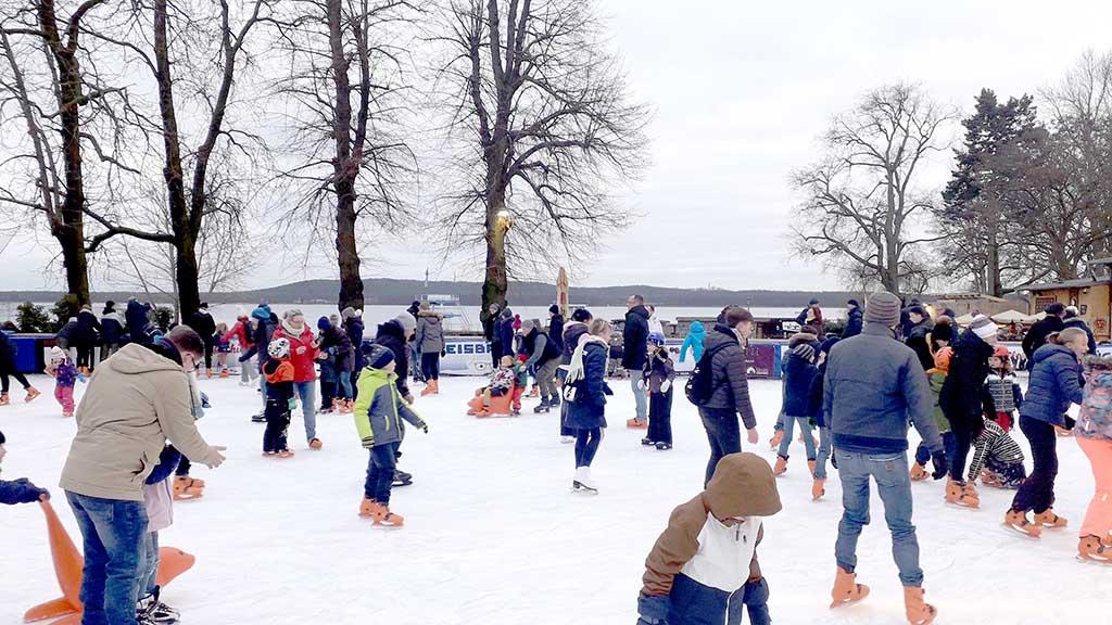 Eisbahn-Spaß mit Müggelseeblick in Friedrichshagen