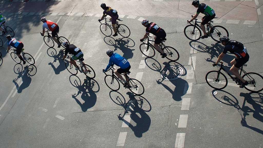 Radrennen durch die Berliner City