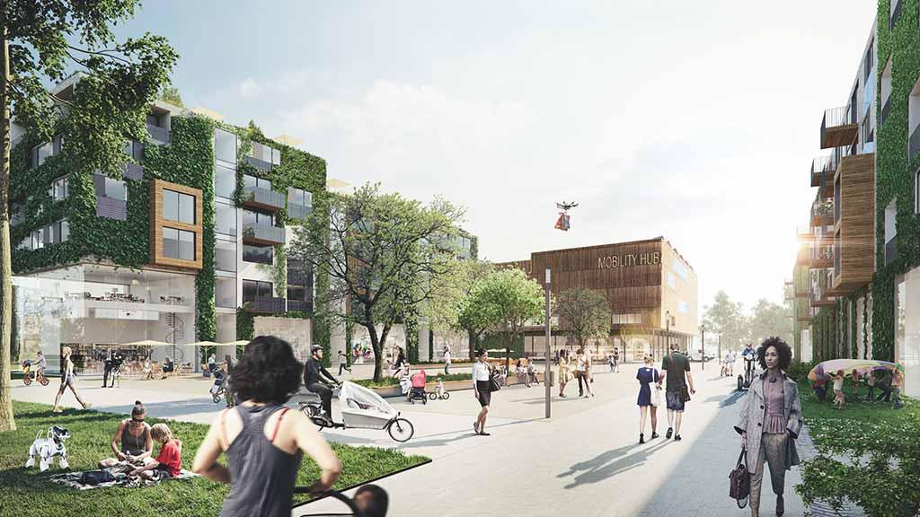 Quartiersplatz Schumacher Quartier_Copyright Tegel Projektrendertaxi