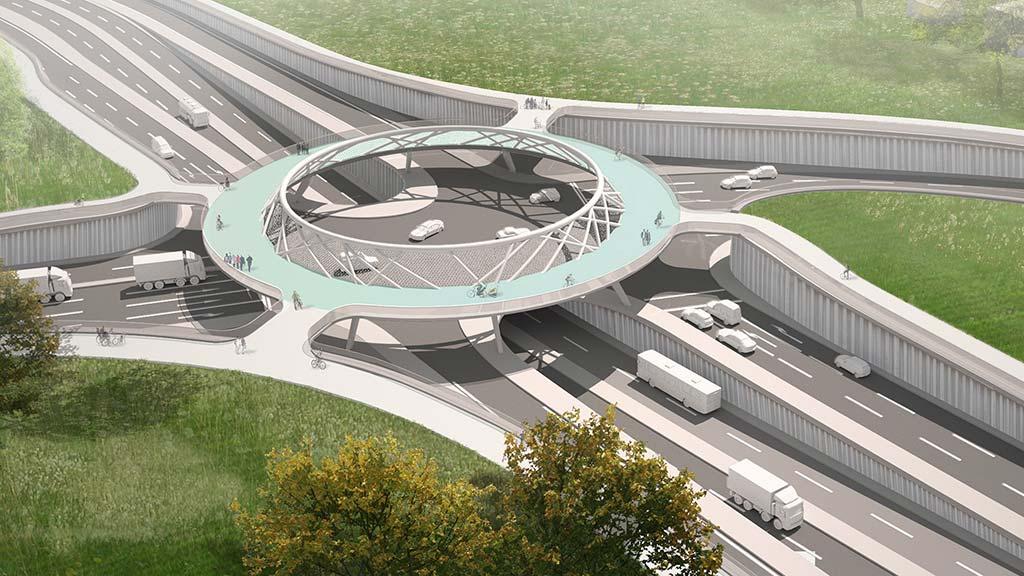 Berlin-Marzahn: Ein Brücken-Kreisel für die TVO