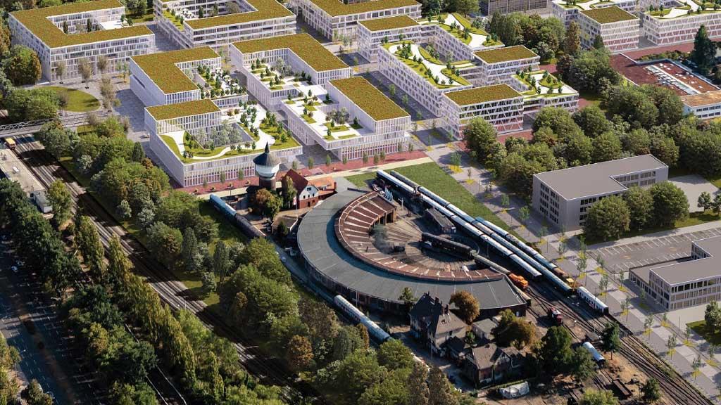 Bund und Land fördern Sanierung des Bahnbetriebswerks in Schöneweide