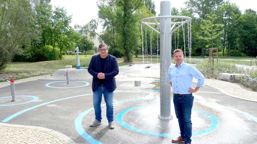 Berlin-Lichtenberg: Neuer Wasserspielplatz in Hohenschönhausen