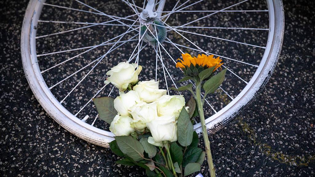 Mahnwache für Radfahrer