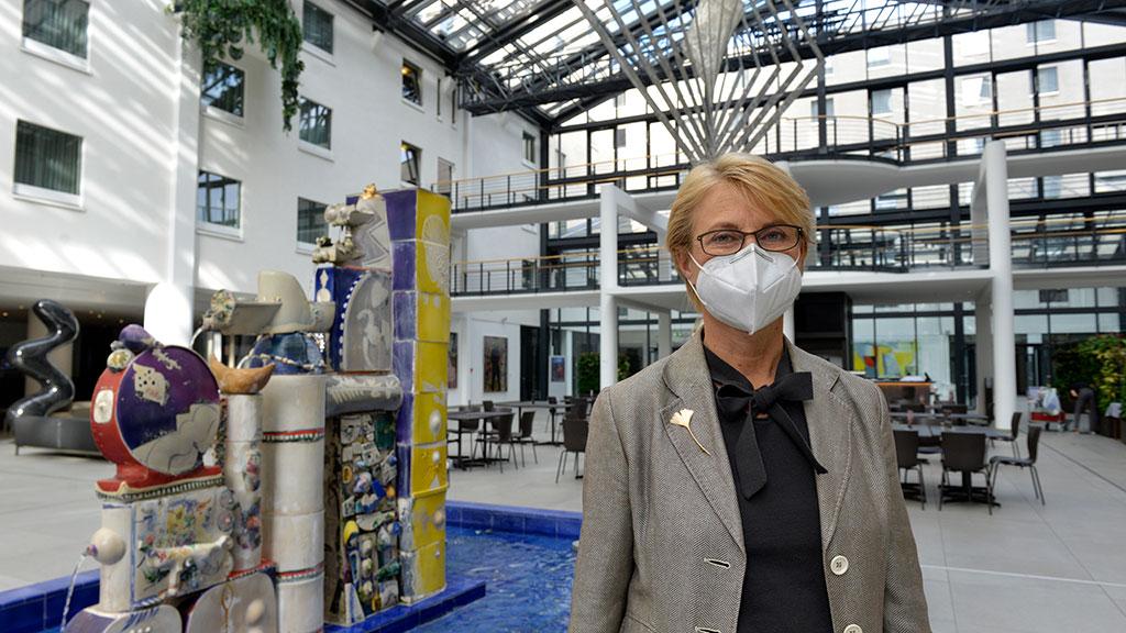 Ute Jacobs, Managerin des Estrel Hotels und dem zugehörigen Congress Center