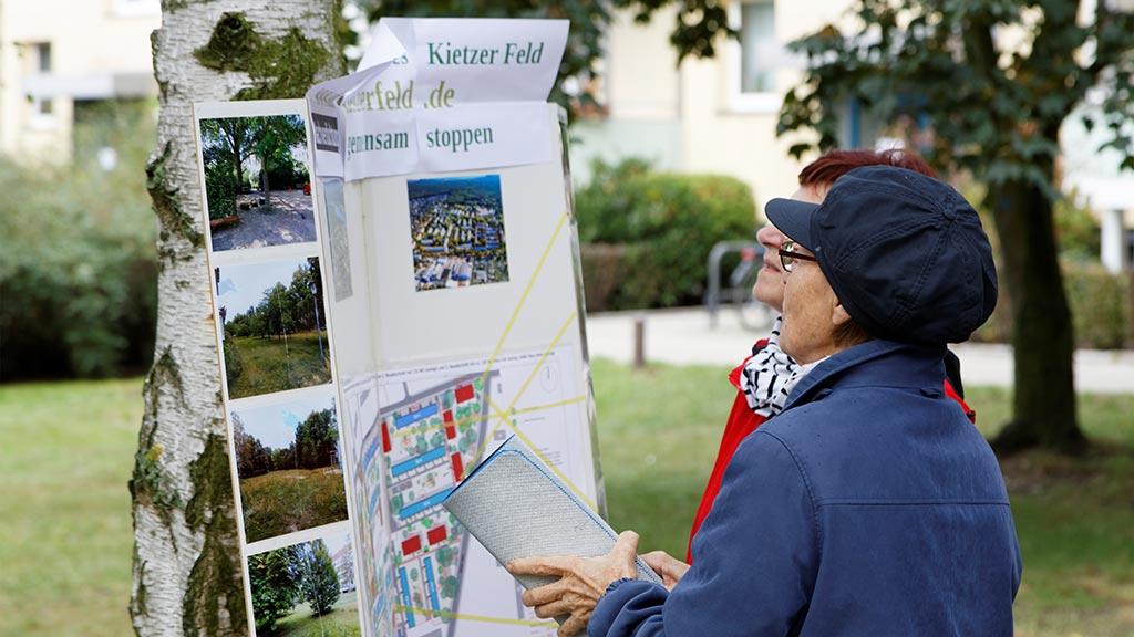 Berlin-Köpenick: Proteste gegen Pläne in Wendenschloß