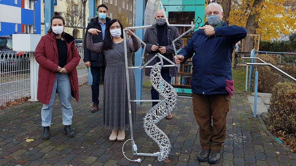 Lichtenberg Weitling-Kiez leuchtet zum ersten Advent weihnachtlich