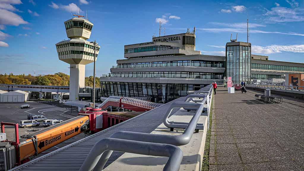 Countdown auf dem Flughafen Tegel