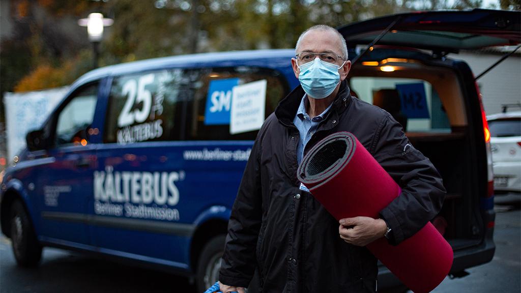 Berliner Kältebusse sind wieder im Einsatz