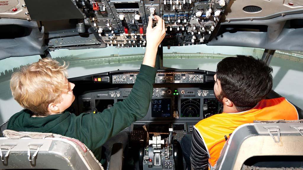 Funktionstüchtiger Flugsimulator