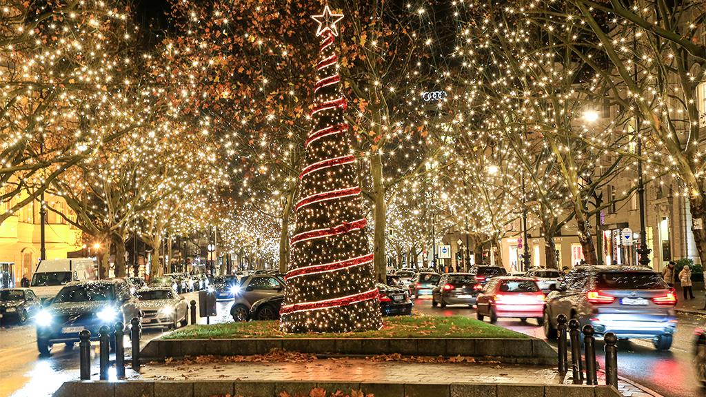 Berlin-Charlottenburg: Weihnachtsstimmung am Ku'damm